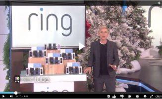 Ring Doorbell featured on Ellen
